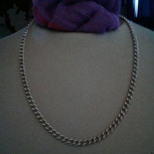 Silver (colored) chain necklace